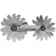 Sriegmatis metrinis 24 lapelių: 0,25 - 6,00 mm