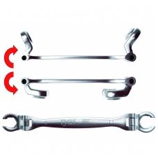Stabdžių linijų ir sąvaržų dvigubas šarnyrinis raktas  9x11 mm
