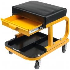 Stačiakampė kėdutė su ratukais ir išstumiamu stalčiumi
