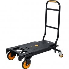 Sulankstomas transportavimo vežimėlis 2 viename, keliamoji galia 130kg.