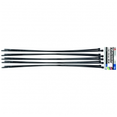 Suveržimo dirželiai juodi, 8.0 x 700 mm, 10vnt.