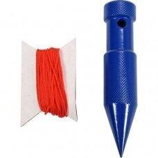 Svambalas plieninis dažytas su pinta virve 200g. - 6m.