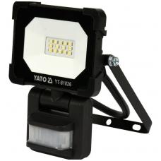 Šviesos diodų lempa - prožektorius su judesio davikliu SMD LED 10W 900LM