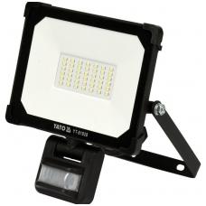 Šviesos diodų lempa, prožektorius su judesio davikliu SMD LED 30W 3000LM