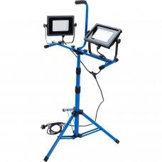 Šviesos diodų lempos / prožektoriai Duo-SMD-LED su trikoju  2 x 7000 lumens