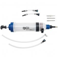Švirkštas - rankinė pompa -1500 ml - su adapterių rinkiniu