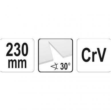 Trikampio pjūvio žirklės skardai - 30° - 230 mm 4