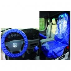 Universalus užvalkalo sėdynei ir vairaračiui rinkinys, dirbtinė oda