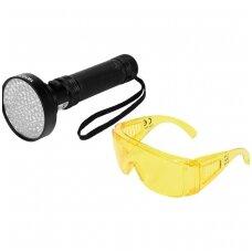 UV žibintuvėlis ir akiniai kondicionavimo sistemos nuotėkio aptikimui UV 100 LED