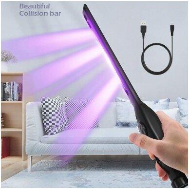 UV COB-sterilizavimo lempa ultravioletinė itin plokščio tipo daug padėčių, UVC 6 LED/USB 6