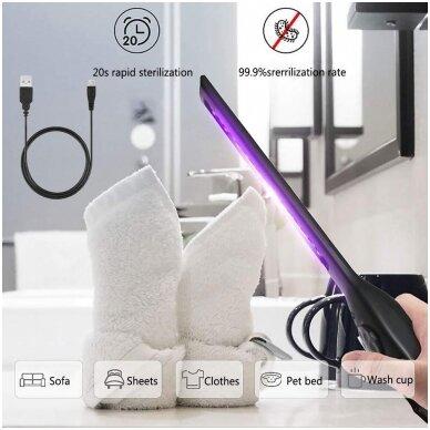 UV COB-sterilizavimo lempa ultravioletinė itin plokščio tipo daug padėčių, UVC 6 LED/USB 7