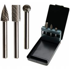 Volframo karbido deimantinių frezų rinkinys 6 mm, 3 vnt