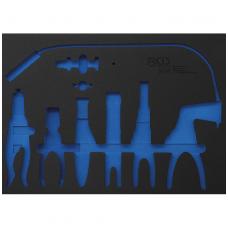 Žarnų sąvaržų replių įrankių dėklas 3/3 tuščias BGS 504